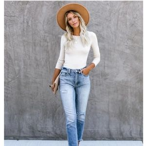 LILLY Long Sleeve Slim Fit Top